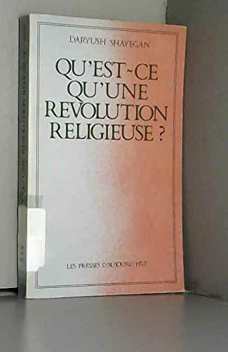 9782901386018: Qu'est-ce qu'une révolution religieuse? (French Edition)