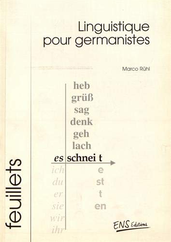 LINGUISTIQUE POUR GERMANISTES: RUHL MARCO