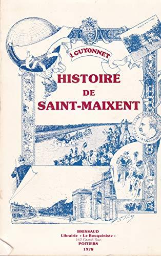 9782902170104: Histoire de la ville de Saint-Maixent des origines � nos jours