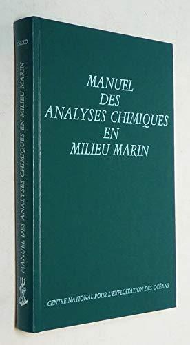 9782902721108: Manuel des analyses chimiques en milieu marin