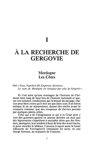 La bataille de Gergovie Les faits archéologiques Les sites: Eychart Paul