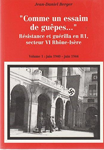 9782902935338: Comme un essaim de guêpes... Résistance et guérilla en R1, secteur VI Rhône-Isère : en 2 volumes : Tome 1, Juin 1940-juin 1944 ; Tome 2, Juin-septembre 1944