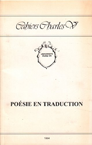 Poésie en traduction [May 06, 1997] Poesie/Traduction