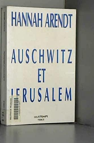 9782903144647: Auschwitz et jerusalem (Litterales II)