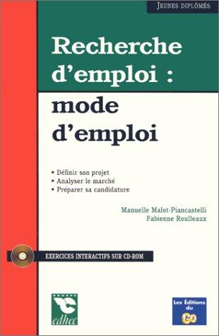 9782903245740: RECHERCHE D'EMPLOI . MODE D'EMPLOI
