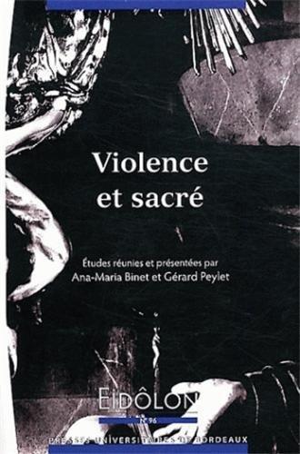 violence et sacre: Ana-Maria Binet