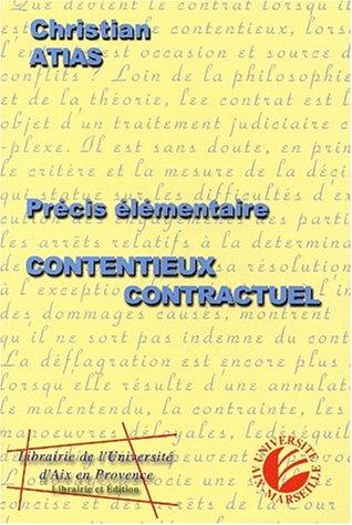9782903449629: Précis élémentaire de contentieux contractuel