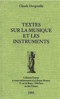 9782903875022: Textes sur la musique et les instruments (Collection Euterpe) (French Edition)