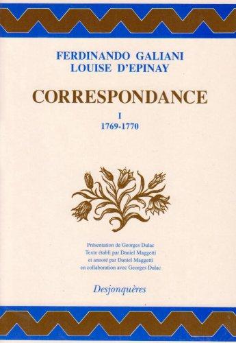 Correspondance (Collection XVIIIe siecle) (French Edition): Ferdinando Galiani