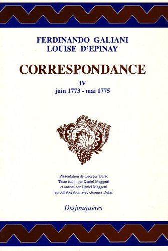 9782904227929: Correspondance, tome 4 : Juin 1773-Mai 1775