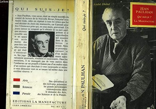 Jean Paulhan (Qui suis-je?) (French Edition): Dhotel, Andre