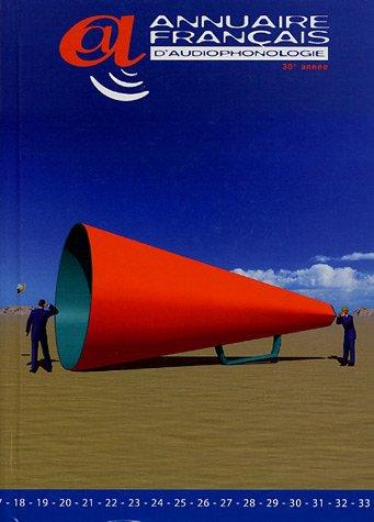9782904651328: Annuaire fran�ais d'audiophonologie