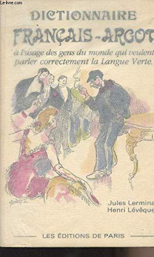 9782905291158: Dictionnaire th�matique fran�ais-argot