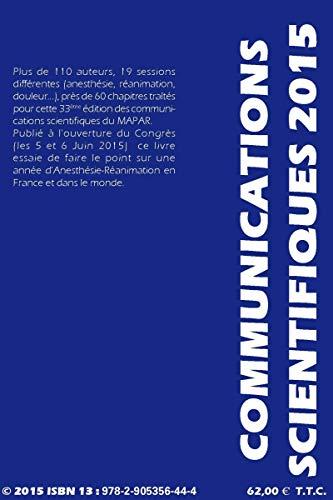 9782905356444: Communications scientifiques 2015