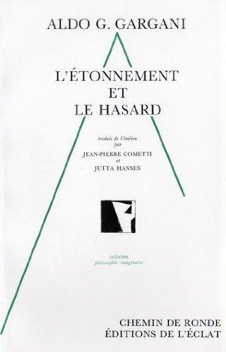 9782905372277: L'Etonnement et le Hasard