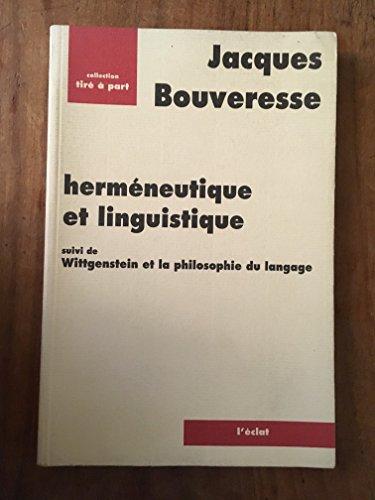 9782905372581: Herm�neutique et Linguistique