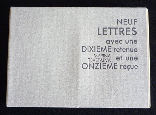 9782905471208: Neuf lettres avec une dixième retenue et une onzième reçue