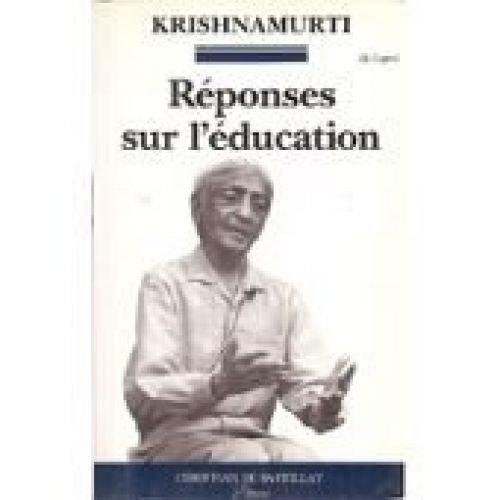 9782905563545: Réponses sur l'éducation
