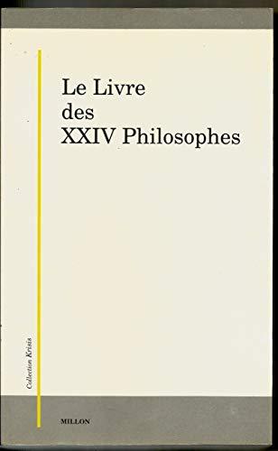 9782905614230: Le Livre des XXIV philosophes (Collection Krisis) (French Edition)