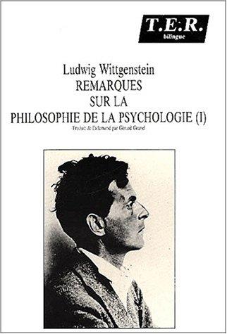 9782905670212: Remarques sur la philosophie de la psychologie. : Tome 1