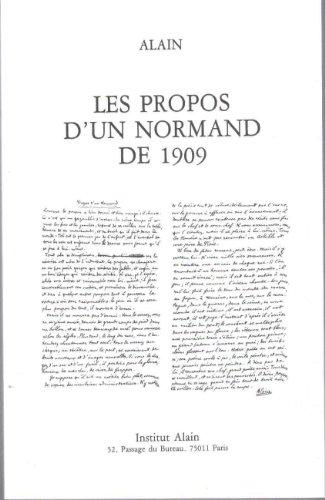 Propos D'un Normand De 1909: Alain