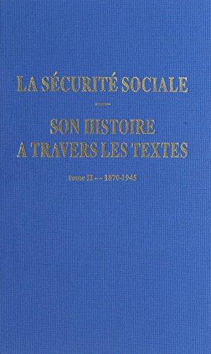 9782905882332: histoire securite sociale text t.21870-194