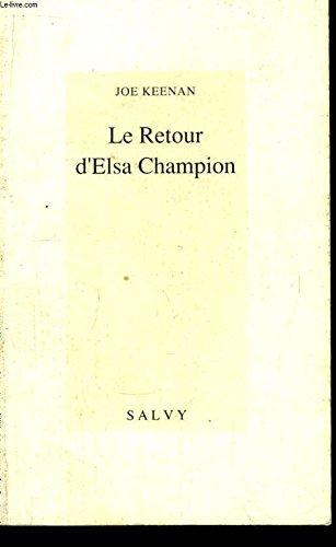 9782905899323: Le retour d elsa champion