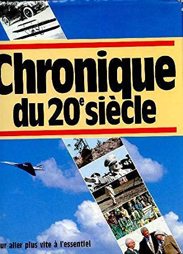 9782905969545: Chronique du 20e siècle