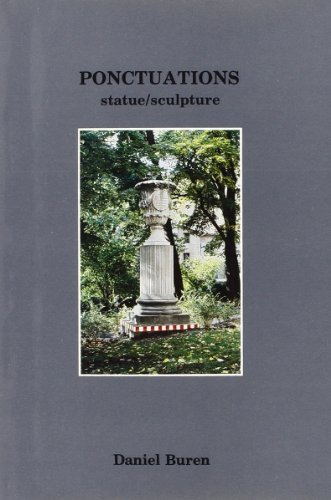 daniel buren ponctuations statue (9782905985439) by Daniel Buren