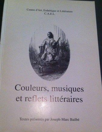 9782906111172: Couleurs, musiques et reflets littéraires