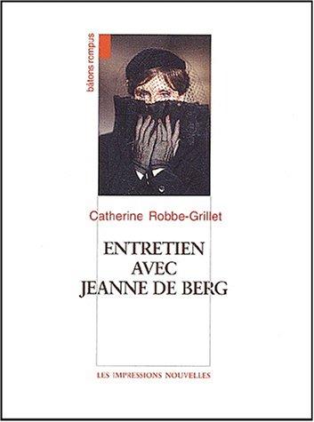9782906131521: Entretien avec Jeanne de Berg