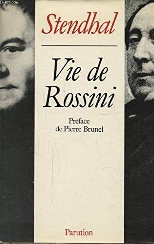 9782906350014: Vie de rossini 1987