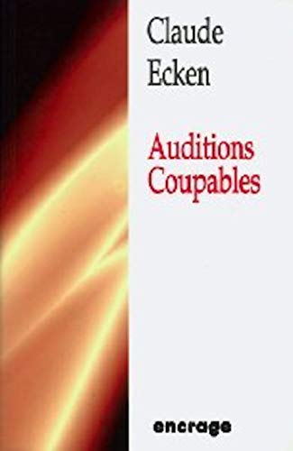 9782906389748: auditions coupables