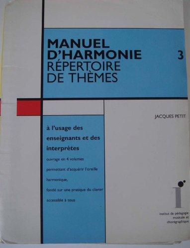 9782906460430: Manuel d'harmonie : � l'usage des enseignants et des interpr�tes