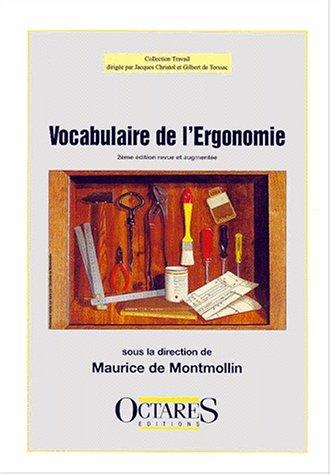 9782906769380: Vocabulaire de l'ergonomie (French Edition)