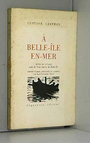 9782907156424: A Belle-Île-en-Mer. Notes de voyage