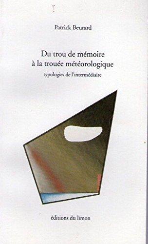 9782907224390: Du trou de m�moire � la trou�e m�t�orologique : Typologies de l'interm�daire