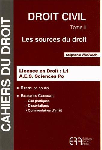 9782907283946: Droit civil : Tome 2, Les sources du droit
