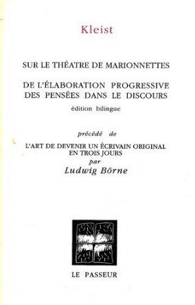 9782907913010: Sur le théâtre de marionnettes : De l'élaboration progressive des pensées dans le discours (bilingue)