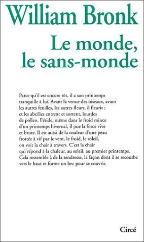 9782908024562: Le Monde, le sans-monde (French Edition)