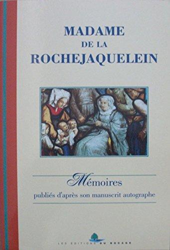 MADAME DE LA ROCHEJAQUELEIN Mémoires publiés d': ROCHEJAQUELEIN