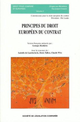 Principes du droit européen du contrat: COLLECTIF