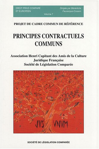 9782908199628: Principes contractuels communs, 2eme edition, volume 7
