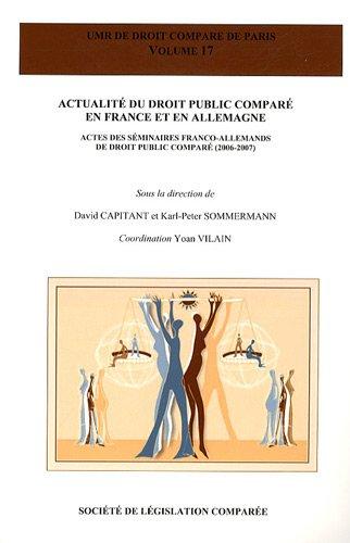 Actualite du droit public compare en france et en allemagne: Capitant/Sommermann
