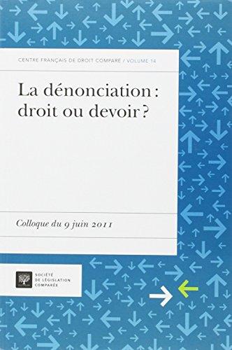 Denonciation : droit ou devoir ?: Robert Jacques