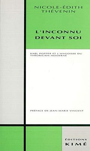 L'Inconnu devant soi.: Thevenin, Nicole-Edith.