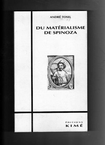 9782908212778: Du Materialisme de Spinoza