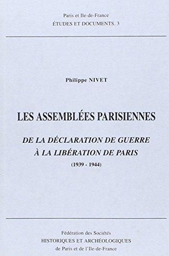 Les assemblées parisiennes: P. Nivet