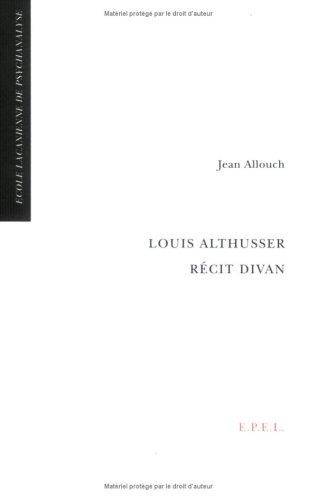 9782908855081: Louis Althusser récit divan