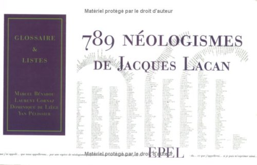 789 neologismes jacques lacan: Collectif